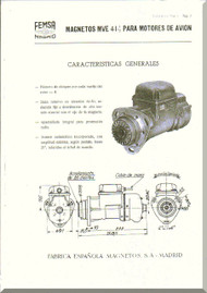 Elzalde Tigre   Aircraft Engine Magneto Manual  (Spanish Language )