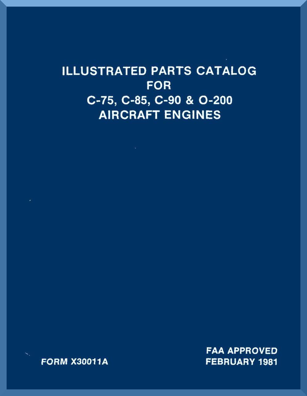 Continental Operators Manual  X30012 O-200 A /& C Series