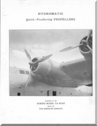Hamilton Quick Feathering Aircraft Propeller Manual - Boeing 314 - 1955
