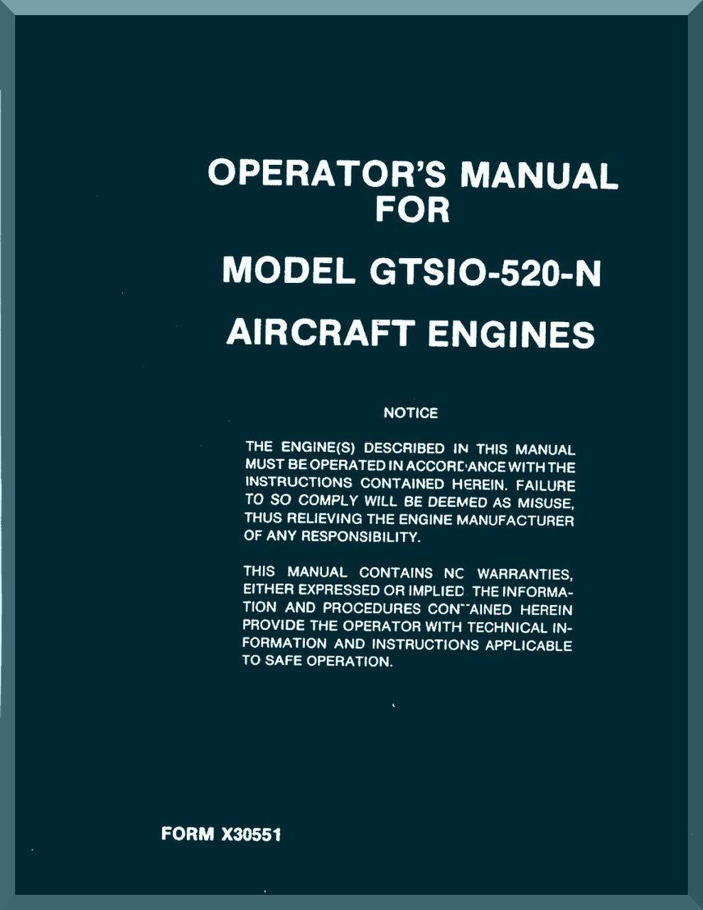 Continental IO-346 Overhaul Manual  X30027