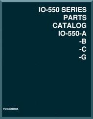 Continental IO-550 A -B -C  -G Aircraft Engine Illustrated Parts Breakdown Manual  ( English Language )