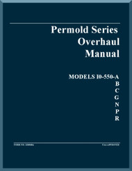 Continental IO-550 -A, -B, -C, -G, -N, -P, -R Aircraft Engine Overhaul Manual  ( English Language )
