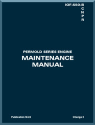 Continental IOF-550 - B C G N  R  Aircraft Engine Maintenance  Manual  ( English Language )