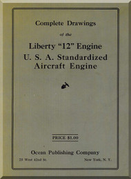 Liberty 12  HP Aircraft Engine Technical Manual Complete Drawings   (English Language )