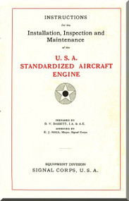 Liberty 12  HP Aircraft Engine Installation, Inspection and Maintenance Manual   (English Language )