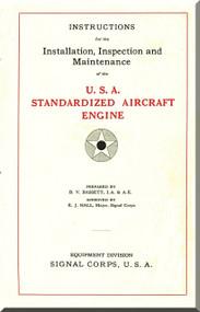 Liberty 12  HP Aircraft Engine Installation, Inspection and Maintenance Manual   (English Language )
