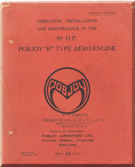 "Pobjoy "" R ""   Aircraft Engine  Operation, Installation and Maintenance Manual  ( English Language )"