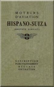 Hispano Suiza 8 150 Aircraft Engine Maintenance Manual Instruction Book  ( French Language )