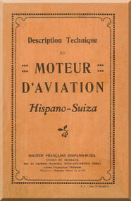 Hispano Suiza 8 Aircraft Engine Technical  Manual   ( French Language )