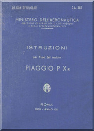 PIAGGIO PXr Aircraft Engine Technical  Manual,    ( Italian Language )