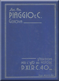 PIAGGIO  P XI RC 40 Aircraft Engine Technical  Manual,    ( Italian Language )