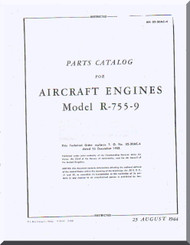 Jacobs R-755-9  Aircraft Engine Parts Catalog Manual  ( English Language )