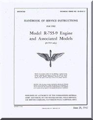 Jacobs R-755-9  Aircraft Engine Service Manual  ( English Language )