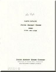 Jacobs R-755 A, B  Aircraft Engine Parts Catalog Manual  ( English Language )