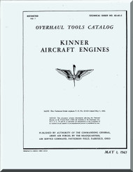Kinner Aircraft Engine Overhaul  Tools Manual  ( English Language )