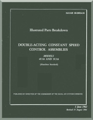 Hamilton Standard  Aircraft Propeller  Double Acting Constant Speed  Parts Manual