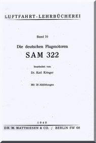 BMW Siemens Bramo SAM 322   Engine Technical  Manual  (German Language )