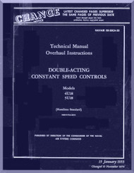 Hamilton Standard  Aircraft Propeller  Double Acting Constant Speed  Overhaul Manual