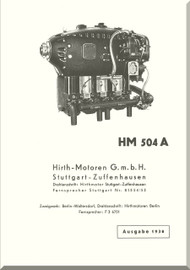 Hirth Motoren   HM 504 A-2  Engine Technical  Manual  (German Language ) Hirth HM 504 A1 Betr.- und Wart.-Vorschrift-1936