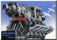 Hirth Motor HM 508   Aircraft Engine Technical  Manual  ( German Language )  Prospekt