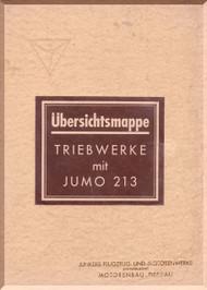 Junkers Flugzeug- und Motorenwerke A.G. Jumo  213    Aircraft  Engine Technical  Manual  ( German Language )  Unerschtsmappe