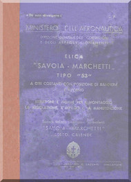 Savoia Marchetti 53 Aircraft Propeller Maintenance Manual - Elica -