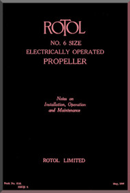 Rotol Aircraft Propellers Technical Electrically Operated Manual  N.ro 6