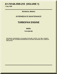 general electric f414-ge-400 aircraft turbofan engine maintenance manual (  english language )