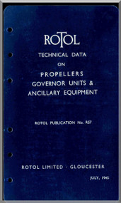 Rotol Aircraft Propellers Governors Units & Anquillary Equipments Manual  N.ro 57