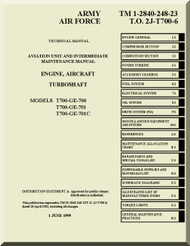General Electric T700-GE-101 & T700-GE-401C Aircraft Turboshaft Engine  Intermediate Maintenance Manual ( English Language ) - A1-T700A-MMI-210 V.1  - Aircraft Reports - Aircraft Manuals - Aircraft Helicopter Engines  Propellers Blueprints Publications   Ge T701c Turbine Engine Operating Diagram      Aircraft Reports