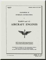 Lycoming R-680 -9 -13 Aircraft Engine Overhaul  Manual  ( English Language )