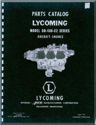 Lycoming GSO-480 -C2 Aircraft Engine  Parts Manual  ( English Language ) , 1956
