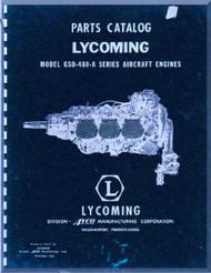 Lycoming GSO-480 -A Aircraft Engine  Parts Manual  ( English Language ) , 1956