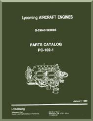 Lycoming  O-290-D Aircraft Engine  Parts Catalog Manual  ( English Language ) , 1968 -  PC-102-1