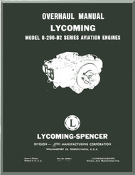 Lycoming O-290-D2 Aircraft Engine  Overhaul Manual  ( English Language ) ,