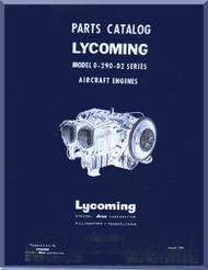 Lycoming O-290-D2 Aircraft Engine  Parts Catalog Manual  ( English Language ) , 1960 -