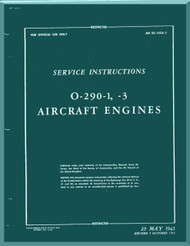 Lycoming O-290-1, -3 Aircraft Engine Service Manual  ( English Language ) ,  T.O. 02-15CA-2 , 1943