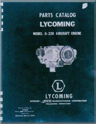 Lycoming  O-320  Aircraft Engine Parts Manual  ( English Language ) , 1955 -