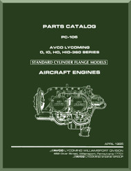Lycoming O, IO, HO, HIO-360  Aircraft Engine  Parts Manual  ( English Language ) , PC-106, 1985