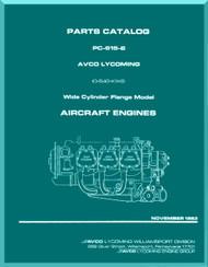 Lycoming  IO-540-K1K5 Aircraft Engine  Parts Manual  ( English Language ) , 1983 , PC-615-2