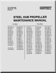 Hartzell Aircraft Propeller Steel Hub maintenance Manual - 114C