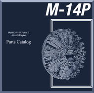 Vedeneyev M14P  Aircraft Engine Parts Catalog Manual    -  ( English Language )