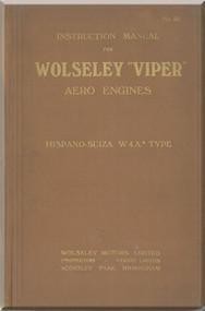 Wolseley  Viper Aero  Aircraft Engine Service Manual  ( English Language )