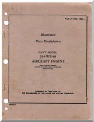 Westinghouse J34-WE-48  Aircraft Engine Illustrated Parts   Manual  ( English Language )
