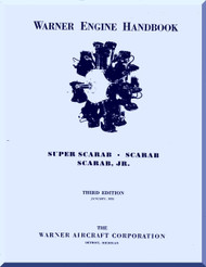 Warner Super Scarab   Aircraft Engine Handbook Manual  ( English Language )