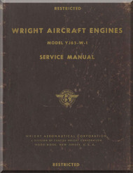 Wright Y65-W-1 Aircraft Engine Service  Manual  ( English Language ) - 1956