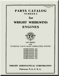 Wright Whirlwind J-6 E Aircraft Engine Parts Catalog Manual