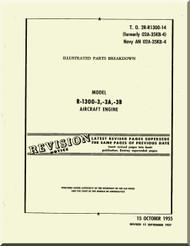 Wright R-1300 -3 -3A -3C   Cyclone 7  Aircraft Engine Parts Catalog  Manual  ( English Language )