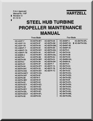 Hartzell Aircraft Propeller Steel Hub Turbine Maintenance Manual - 118F