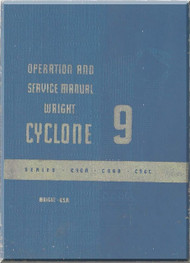 Wright R-1820 Cyclone 9 GC Aircraft Engine Service Manual  ( English Language )